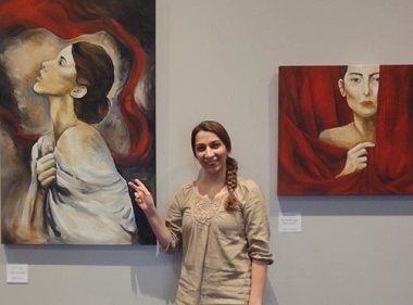 The paintings of women in 'Song of Salvation reflect the faith experiences of Iranian-born artist Violet Behzadian