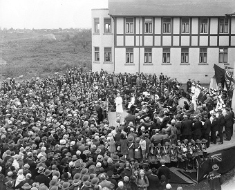 The opening of Vancouver's Grace Hospital in 1927 (City of Vancouver Archives, AM54-S4-: Bu N248). More than 200,000 births had taken place there before it was turned over to the provincial government in 1994.