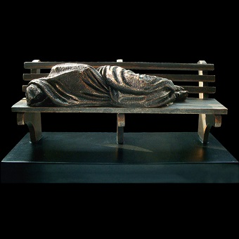 Homeless Jesus by Timothy Schmalz will soon be installed at Holy Rosary Cathedral.