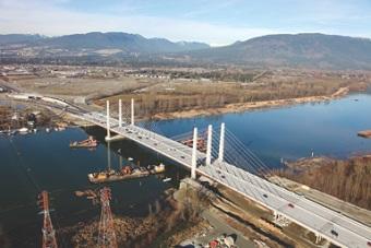 The Pitt River Bridge links Pitt Meadows and Port Coquitlam.