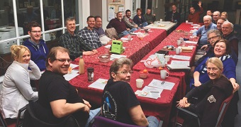 The Ridge Meadows Ministerial in April, at their monthly lunch meeting.